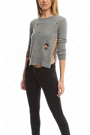 R13 Shrunken Distressed Sweater