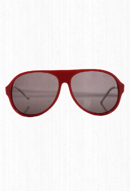 Raf Simons Red Aviator Sunglasses