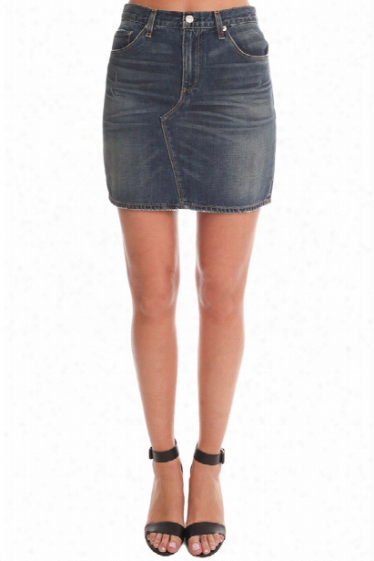Rag & Bone/jean Distressed Mini Skirt