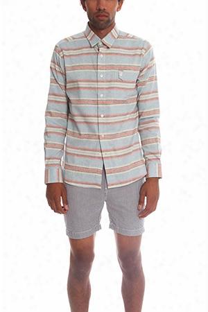 18 Waits Long Sleeve Striped Shirt