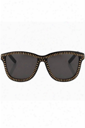 Alexander Wang Grey Zipper Motif Sunglasses