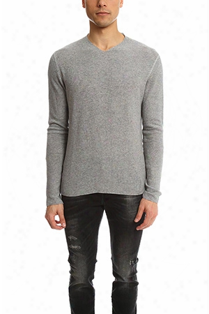 Hannes Roether V Neck Waffle Sweater