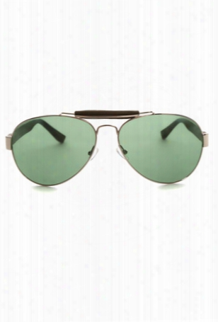 Linda Farrow X The Row Aviator Sunglasses