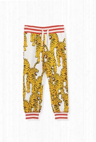 Mini Rodini White Tiger Sweatpants