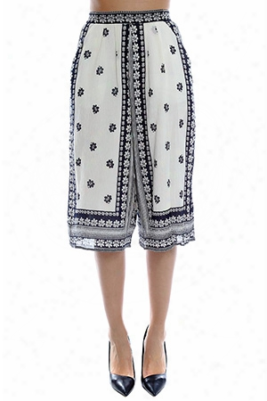 Sea Border Printed Gauchos