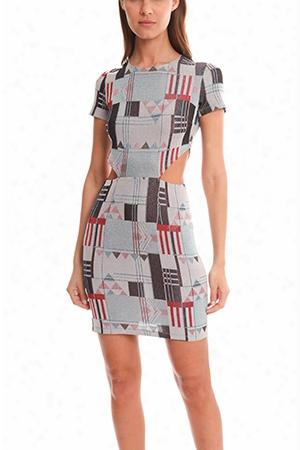 Suno Glitter Cutout Midi Dress