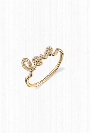Sydney Evan Love Ring - Yellow Gold