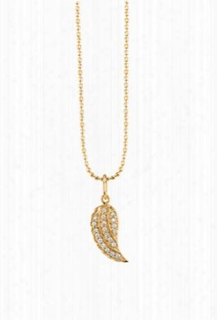 Sydney Evan Mini Wing Necklace - Yellow Gold