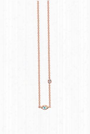 Sydney Evan Single Mini Enamel Evil Eye Necklace
