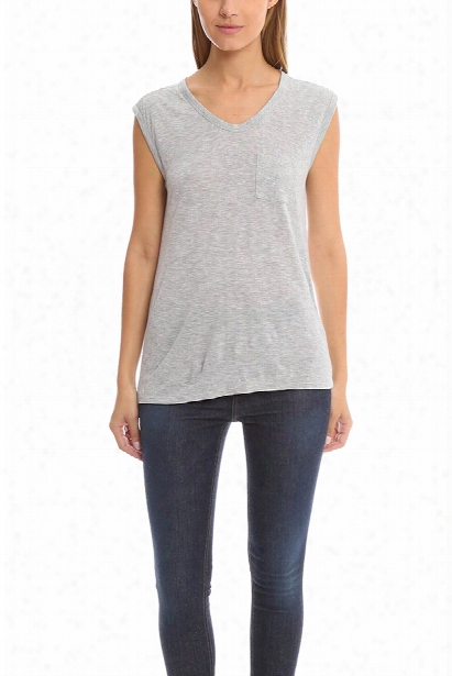T By Alexander Wang Muscle Tee W/ Mini Pocket
