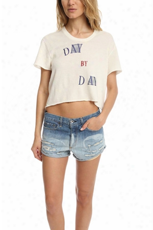 Via Spare Day By Day Crop Tee