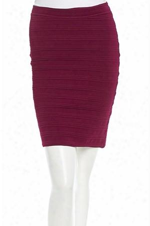 Yigal Azrouel Bordeaux Techno Knit Skirt