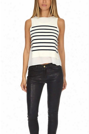 3.1 Phillip Lim Sailor Tank With Silk Underlay