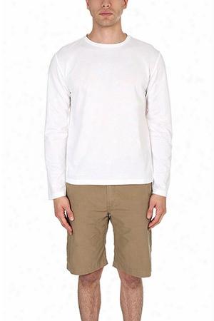 Blue & Cream Ls Pique T Shirt