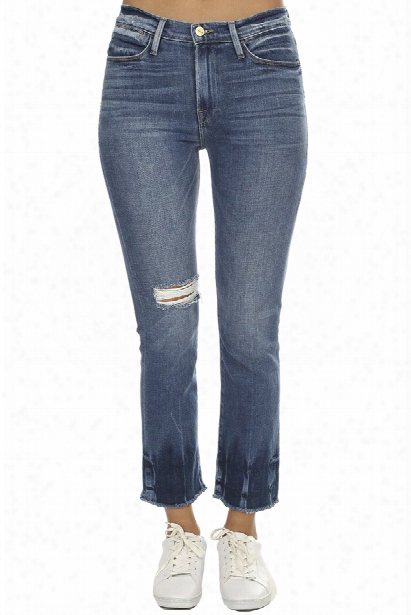 Frame Denim Le High Straight Raw Edge Jean