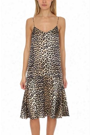 Ganni Dufort Silk Strap Dress