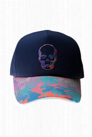Lucien Pellat-finet Skull Embroidered Cap