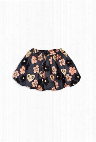 Mini Rodini Flowers Woven Skirt