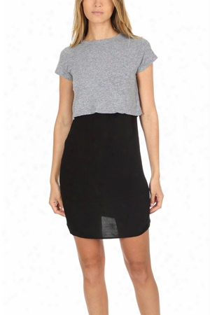 Monrow Mini Tee With Slip Dress