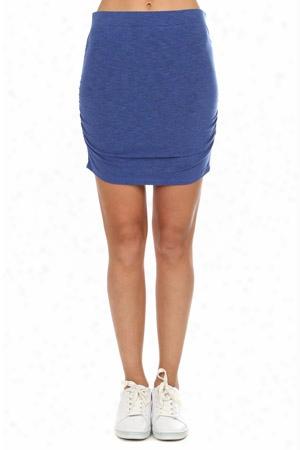 Monrow Shirred Mini Skirt