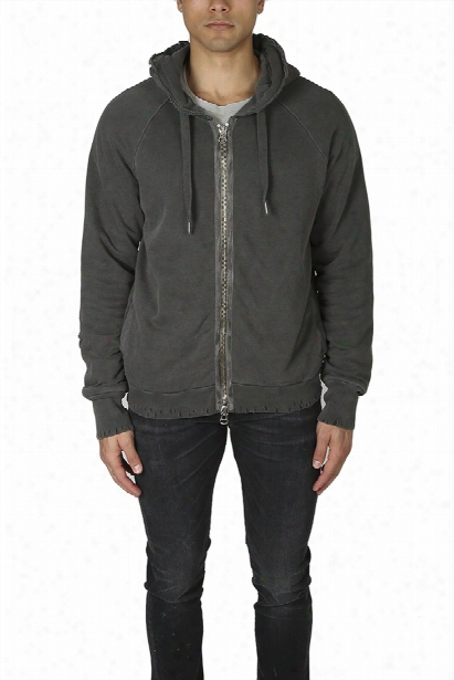 Nsf Sammy Distressed Zip Hoody