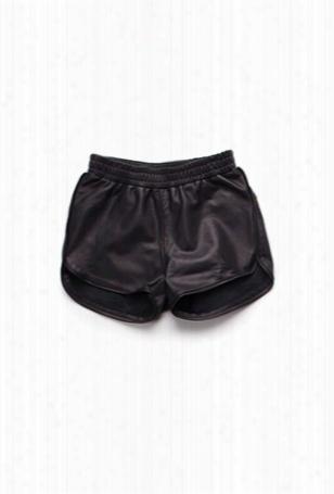 Nununu Leather Gym Shorts