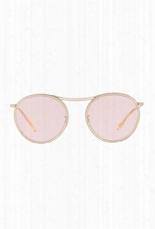 Oliver Peoples Mp-3 30th Brushed Gold Pink Wash