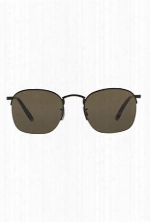 Oliver Peoples Rickman Matte Black + G-15