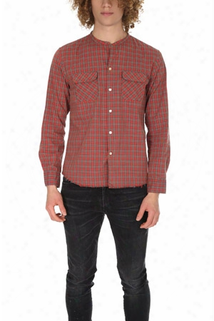 Onestroke Check Stand Collar Shirt