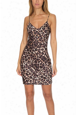 Pam & Gela Leopard Slip Dress
