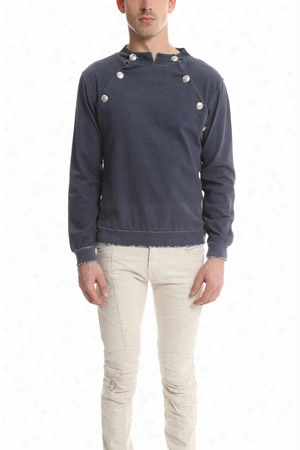 Pierre Balmain Denim Cotton Sweatshirt