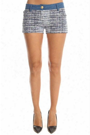 Pierre Balmain Denim Tweed Shorts