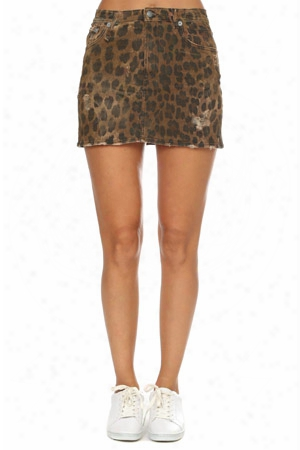 R13 High Rise Mini Skirt