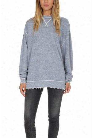 R13 Indigo Linen Sweatshirt
