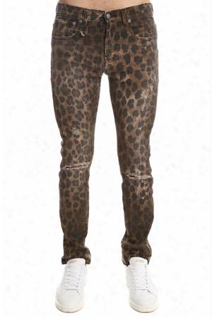 R13 Leopard Skate Jean