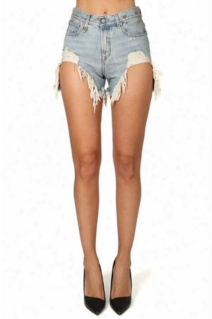 R13 Shredded Slouch Short
