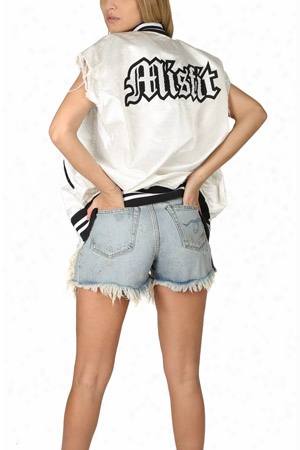 R13 Sleeveless Misfit Varsity Jacket