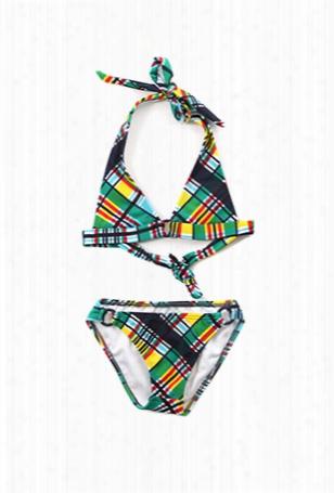 Shoshanna Kids Pliad Ring Halter Bikini