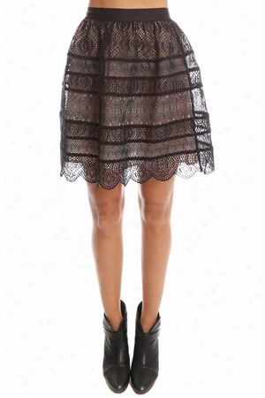 Zimmermann Lavish Embroidered Bell Mini Skirt