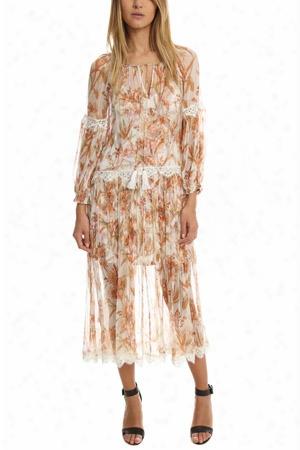 Zimmermann Oleander Crinkle Slouch Dress