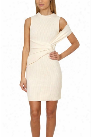 3.1 Phillip Lim Draped Wool Twist Tan K Dress