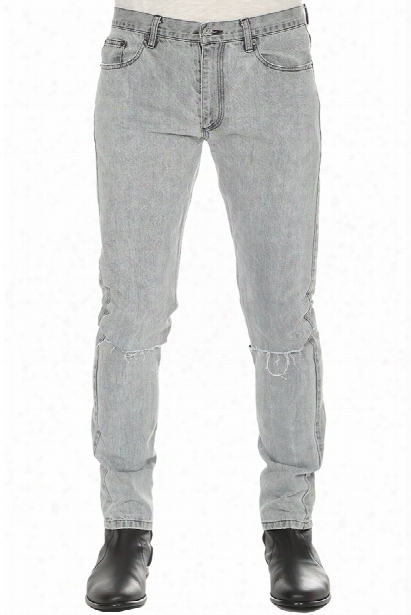 Blue&cream Hl Distressed Jean