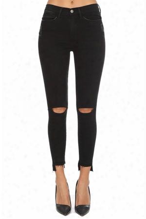 Frame Denim Le High Skinny Cutout Jean