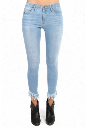Frame Le High Skinny Shredded Hem Jean