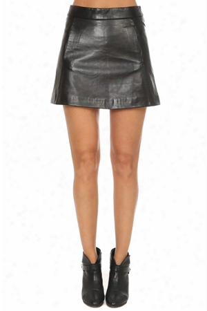 Ganni Passion Leather Skirt