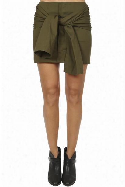 Harvey Faircloth Tie Sleeve Mini Skirt