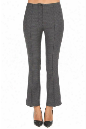 Helmut Lang Houndstooth Cropped Flare Pant