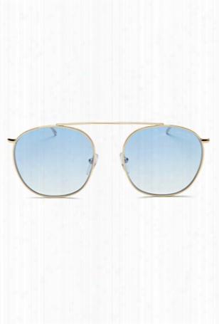 Illesteva Mykonos Ii Gold / Blue Gradient