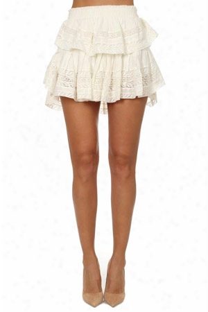 Loveshackfancy Desert Victorian Uffle Mini Skirt