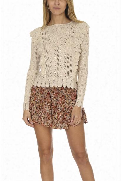 Loveshackfancy Ruffle Pullover Sweater